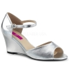 KIMBERLY - 05 Silver Faux Leather